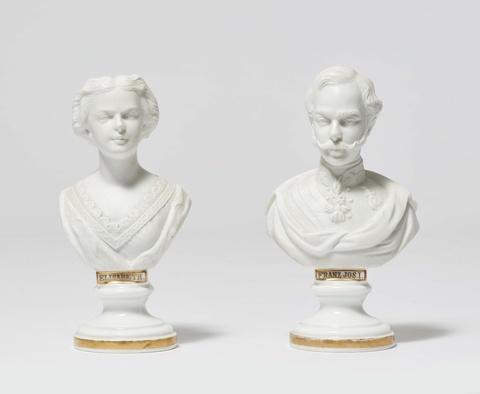 Büstenpaar Kaiser Franz-Joseph und Kaiserin Elisabeth -