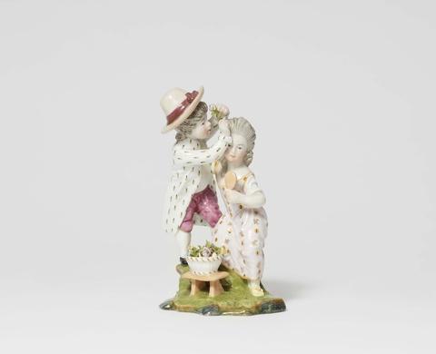 A rare Höchst porcelain group with children -