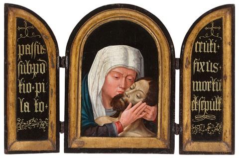 Gerard David, Umkreis - Triptychon mit der Beweinung Christi