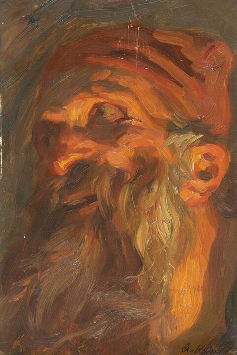 Arthur Kampf - STUDY OF A BEARDED MAN
