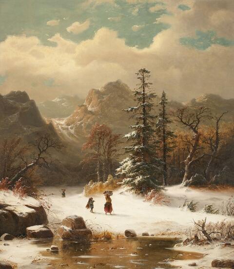Carl Ludwig Scheins - WINTERLANDSCHAFT