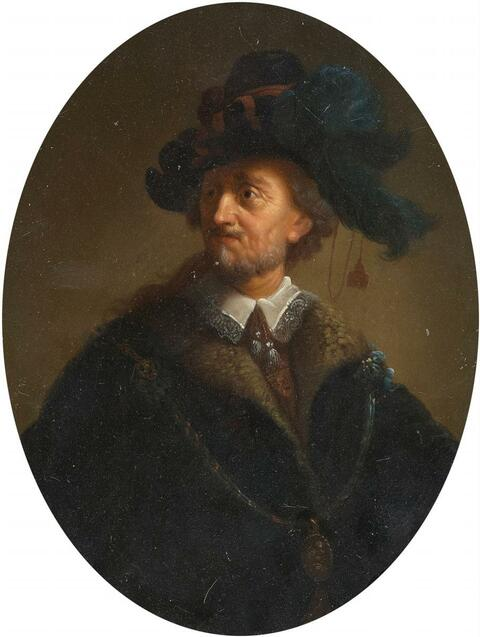 Christian Wilhelm Ernst Dietrich, gen. Dietricy, zugeschrieben - BILDNIS EINES MANNES (REMBRANDTS VATER)