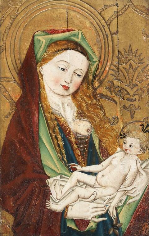 Süddeutscher Meister wohl um 1480 - MARIA MIT KIND