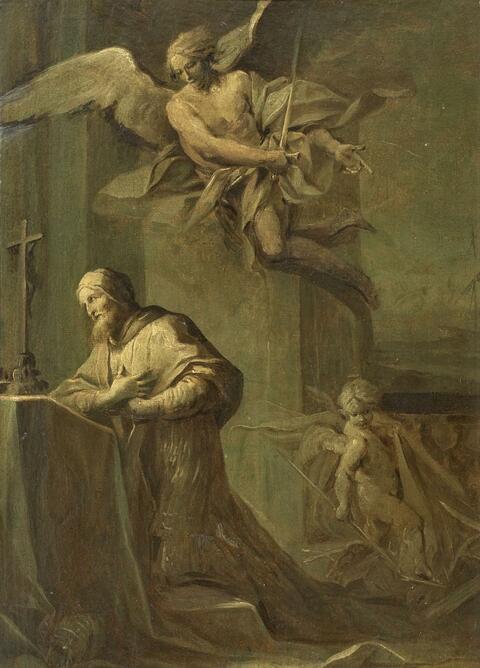 Venetian School Mid-18th-century - THE POPE PRAYING (ST. CLEMENS?)