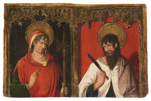 Spanish School, second half 15th Century - SAINT JUDE THADDAEUS AND SAINT BARTHOLOMEW