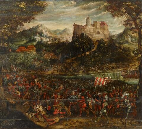 Master of the Würzburg Battle, follower of - BATTLE SCENE WITH LANDSQUENETS