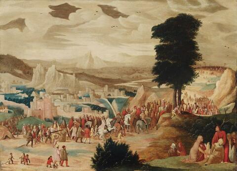 Pieter Brueghel d. J., Nachfolge - KREUZTRAGUNG CHRISTI