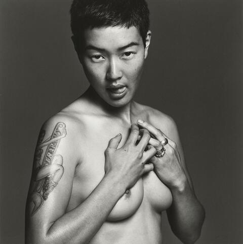 Michel Comte - Jenny Shimizu (from the series: Safer Sex)