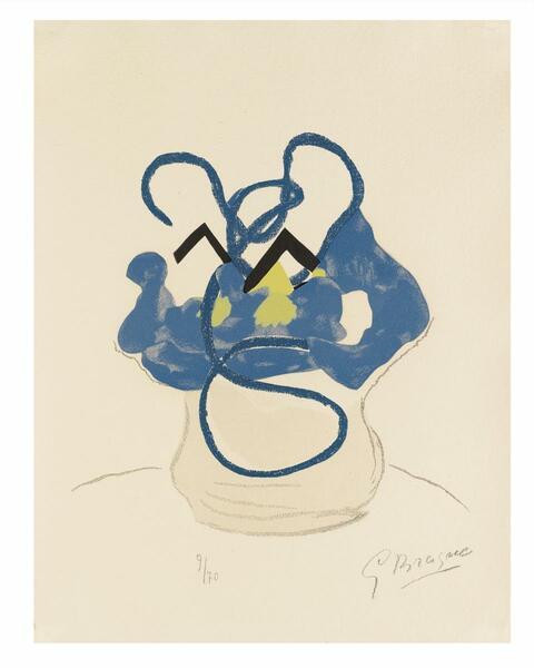 Georges Braque - Bouquet de fleurs bleues