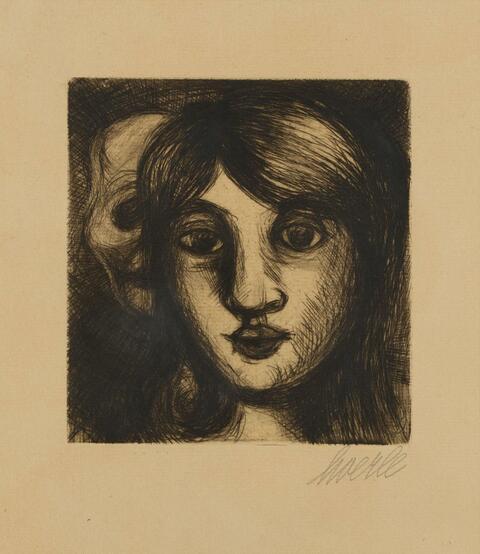 Heinrich Hoerle - Der Tod und das Mädchen. Prothesenkopf