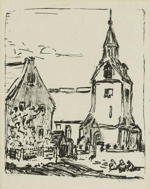 Ernst Ludwig Kirchner - Kirche in Goppeln (Andreaskirche in Leubnitz-Neuostra)