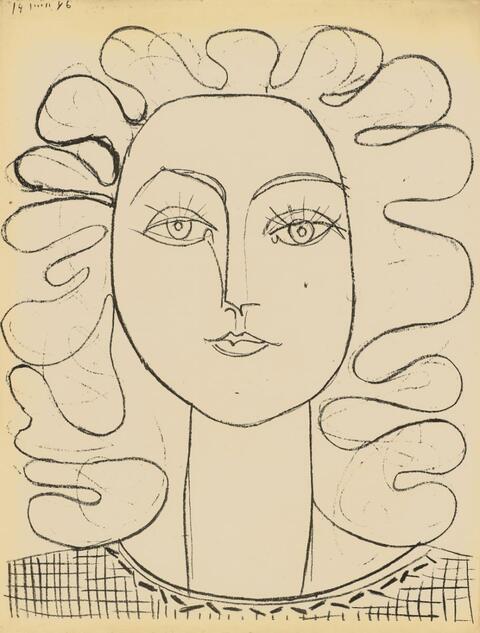 Pablo Picasso - Francoise aux cheveux ondulés