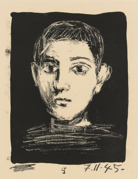 Pablo Picasso - Tête de jeune garcon