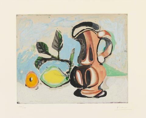 Nach Pablo Picasso - Nature morte au Citron et au Pichet