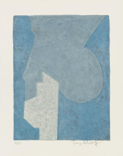 Serge Poliakoff - Composition bleue