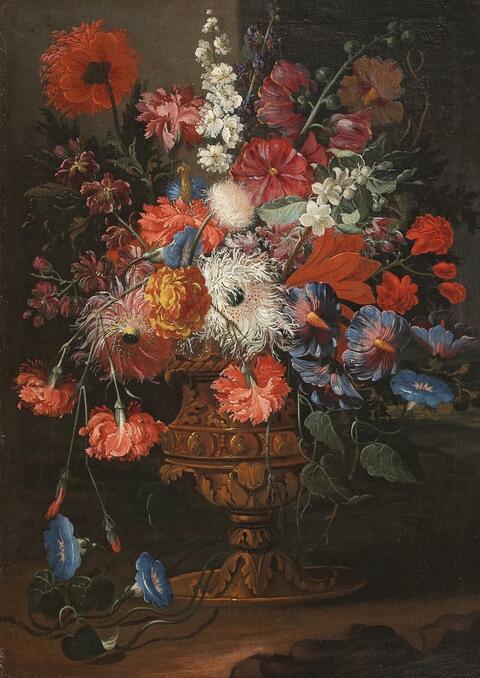 Abraham Brueghel, in the manner of - FLOEWR STILL LIFE