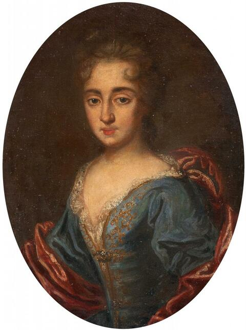 French School, circa 1700 - PORTRAIT OF A YOUNG LADY