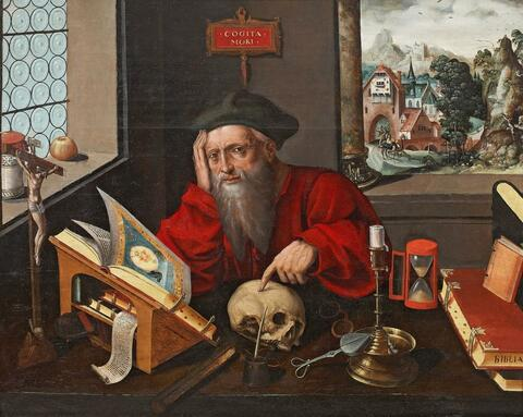 Marinus van Reymerswale, Werkstatt - DER HL. HIERONYMUS IN DER STUDIERSTUBE