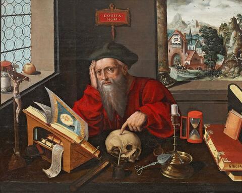Marinus van Reymerswale, studio of - SAINT JEROME IN THE STUDY