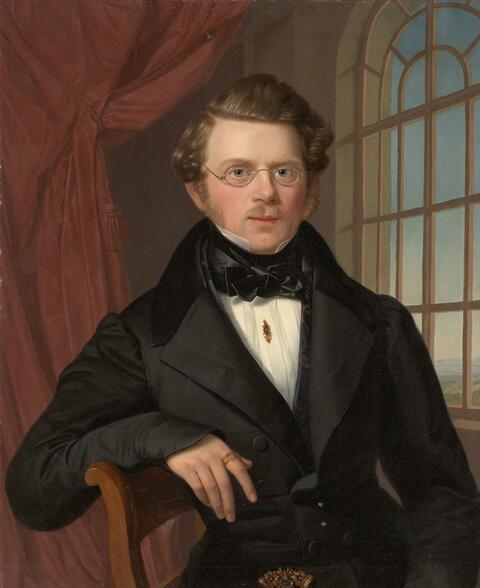Deutscher Künstler der 1. Hälfte des 19. Jahrhunderts - BILDNIS EINES JUNGEN MANNES IN SCHWARZEM ROCK