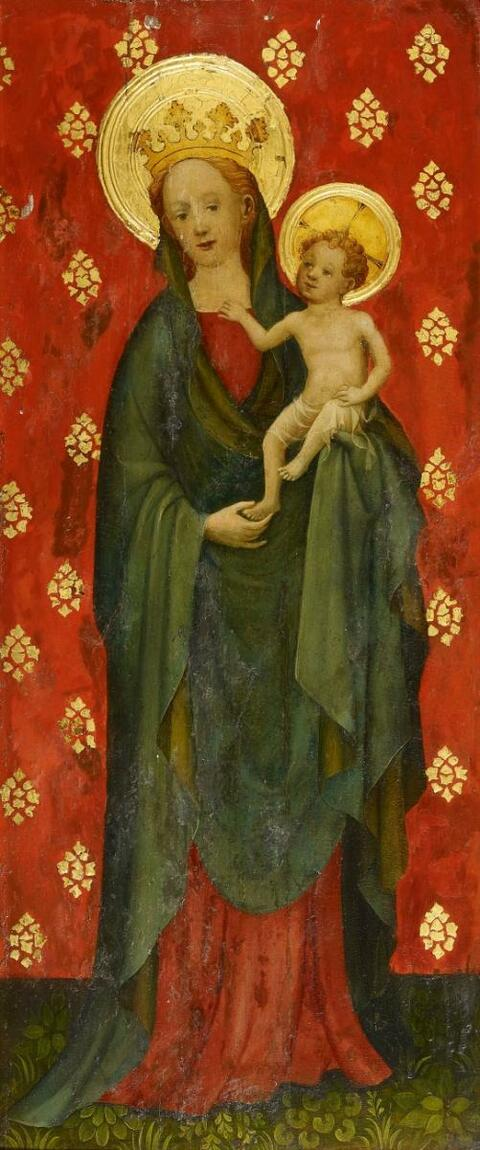Cologne School, circa 1420 - SAINT JOHN THE BAPTIST THE VIRGIN WITH CHILD