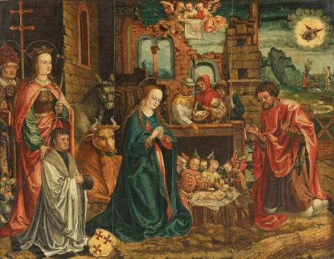Cologne School circa 1520/1530 - THE ADORATION OF THE CHILD