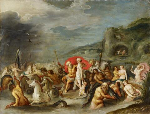 Frans Francken the Younger, studio of - THE TRIUMPH OF NEPTUNE AND AMPHITRITE