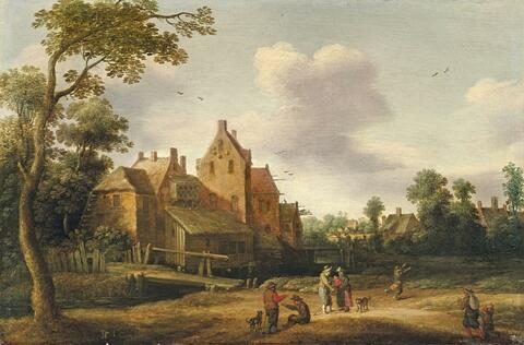 Joost Cornelisz. Droochsloot - LANDSCAPE WITH FARMHOUSE