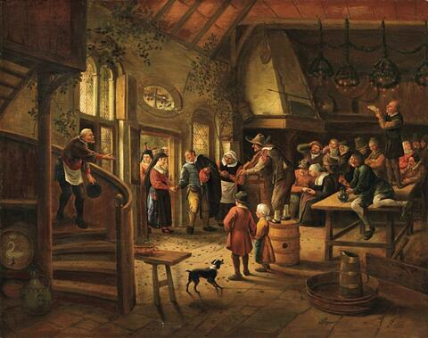 Jan Steen - THE ARRIVAL OF THE BRIDE