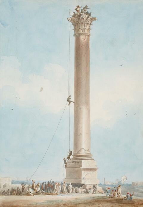 French School c. 1820 - THE ERECTION OF A COLUMN
