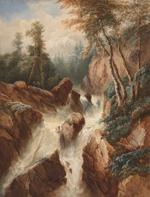 Johann Wilhelm Schirmer - LANDSCAPE WITH A MOUNTAIN STREAM
