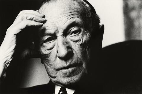 Will McBride - Konrad Adenauer in Cadennabia, Italien