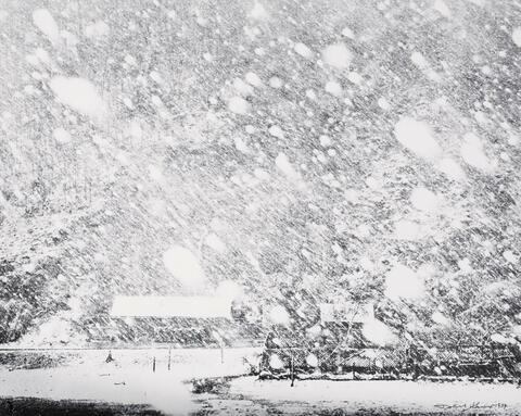 Robert Häusser - Schneetreiben I (Snow drift I)
