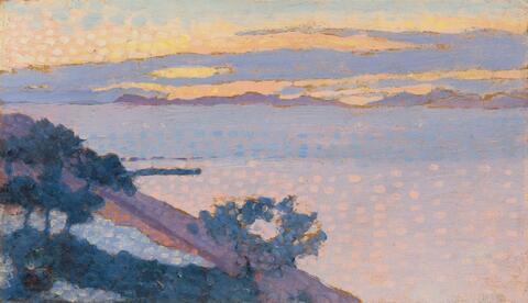 Henri Edmond Cross - Paysage au soleil couchant