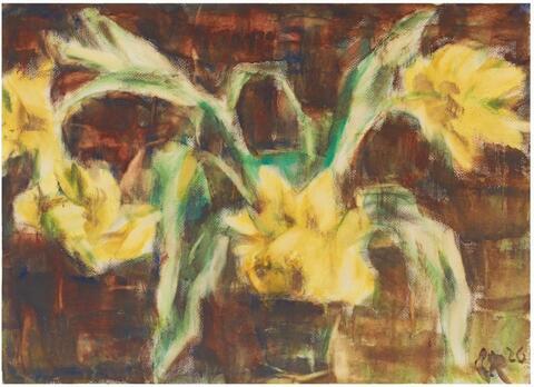 Christian Rohlfs - Gelbe Tulpen II