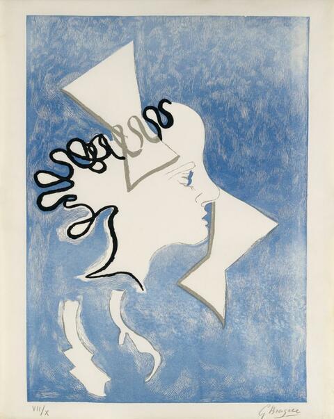 Georges Braque - Profil de Femme