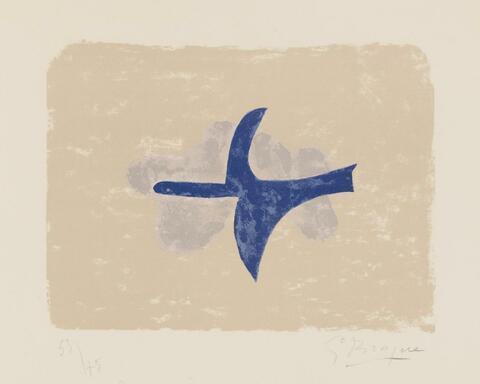 Georges Braque - Dans le Ciel (Oiseau XV)