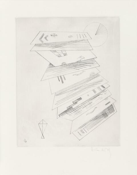 Wassily Kandinsky - Zweite Radierung für die Editions Cahiers d'Art