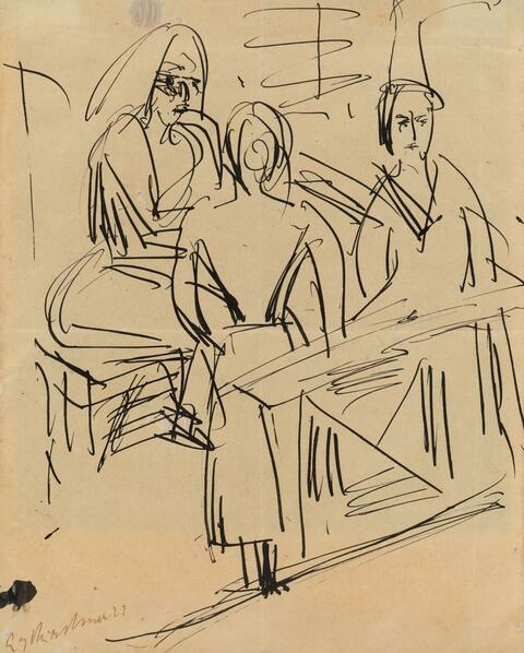Ernst Ludwig Kirchner - Drei Frauen im Raum