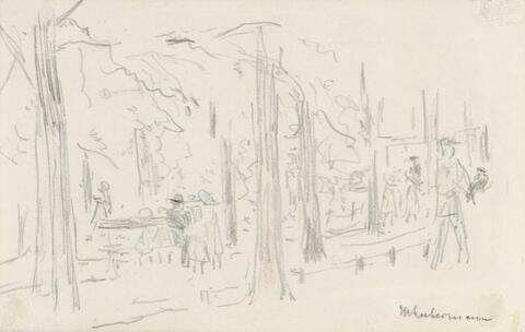 Max Liebermann - Spaziergänger im Berliner Tiergarten