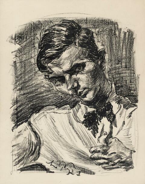 Ludwig Meidner - Brustbild eines jungen Mannes