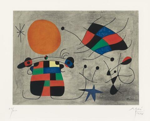 Nach Joan Miró - Le sourire aux ailes flamboyantes
