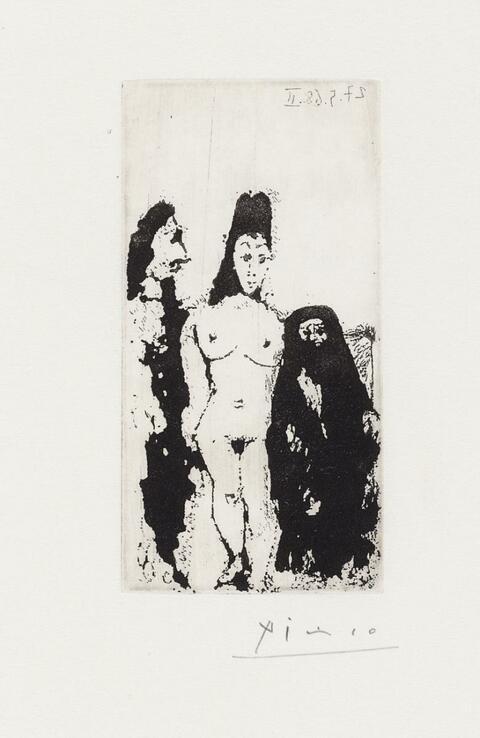 Pablo Picasso - Célestine, Maja et complice masculin