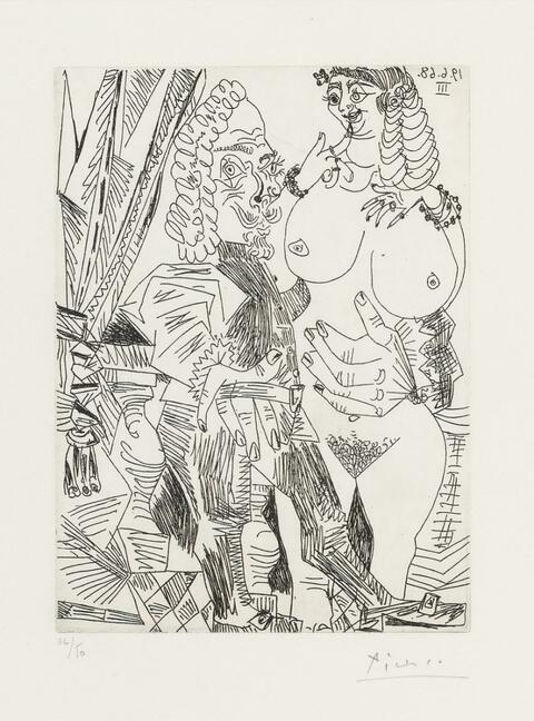 Pablo Picasso - Grosse courtisane et vieux beau