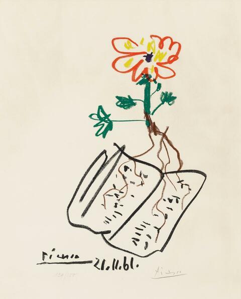 Nach Pablo Picasso - Fleur