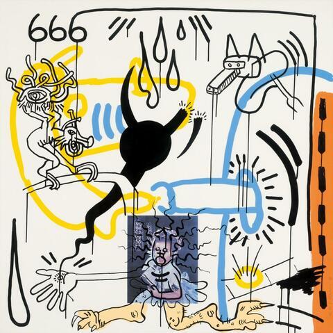 Keith Haring - Aus: William S. Burroughs, Apokalypse