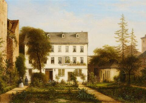 Carl Morgenstern - VIEW OF A HOUSE IN FRANKFURT-SACHSENHAUSEN