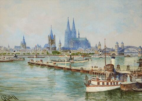 Carl Rüdell - VIEW OF COLOGNE FROM DEUTZ