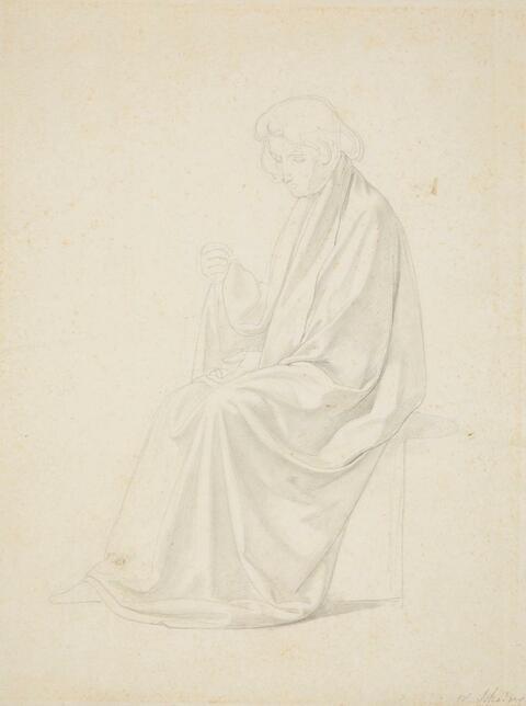Wilhelm von Schadow - GEWANDSTUDIE