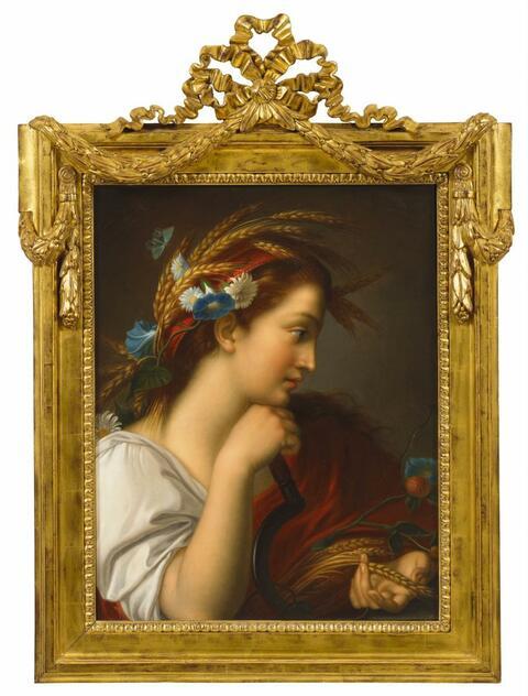 Französischer Meister um 1800 - JUNGE FRAU ALS CERES